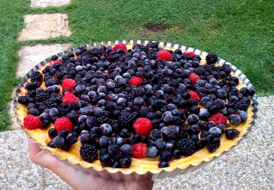 Zdravý tvarohový koláč