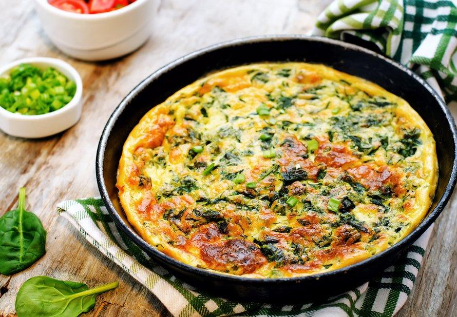 Pečená omeleta se špenátem a ricottou