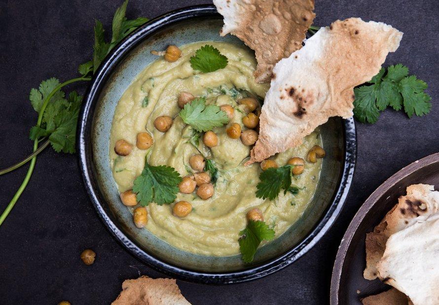 Hummus z avokáda a cizrny