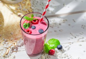 Malinové smoothie s jogurtem