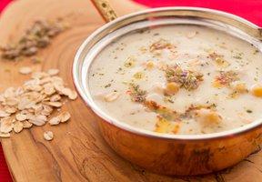 Ovesná polévka s cizrnou
