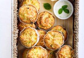 Cuketové muffiny s fetou