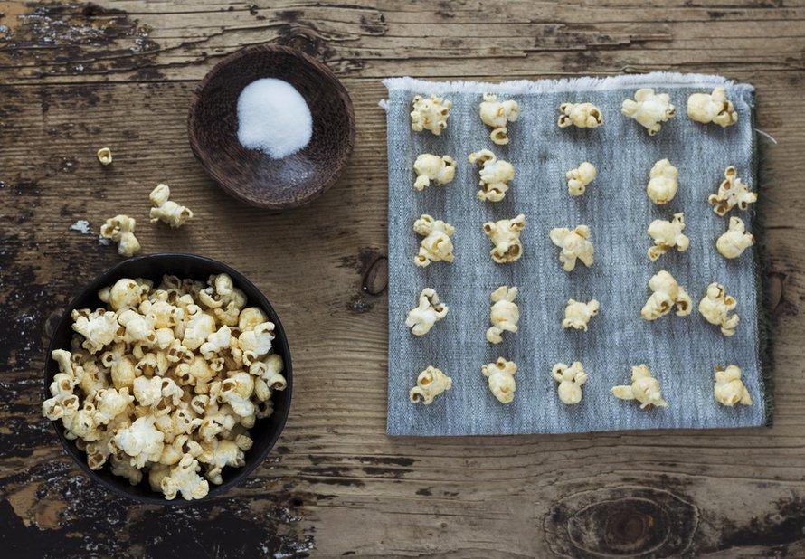 Popcorn s arašídovým máslem