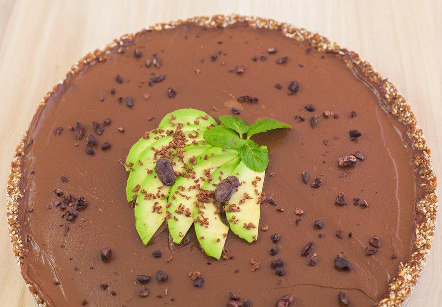 Raw čokoládový koláč