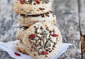 Celozrnné sušenky s goji