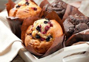 Brusinkové muffiny