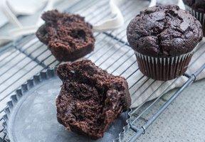Čokoládové muffiny z tvarohového těsta