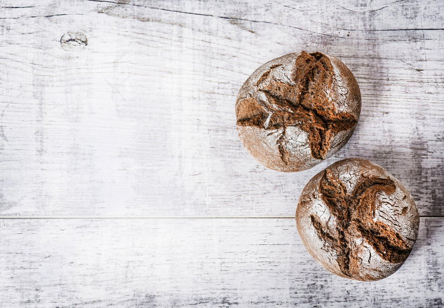 Celozrnné žitné bulky - základní recept