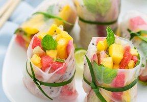 Rýžové závitky s ovocem