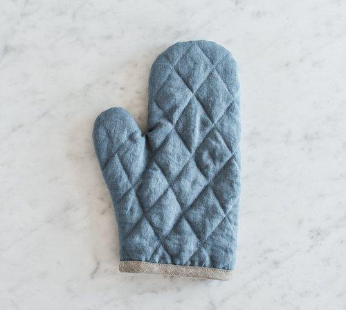 Kuchyňská chňapka klasická MagicLinen – modrá