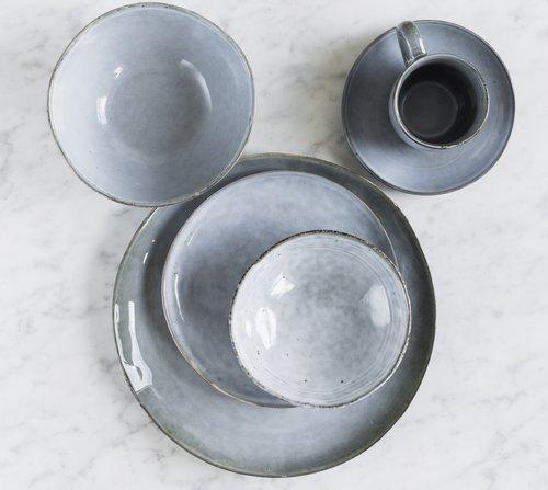 Velký servírovací set pro 2 osoby Salt & Pepper Artisan – modrá