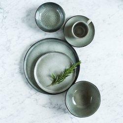 Velký servírovací set pro 4 osoby Salt & Pepper Artisan – zelená
