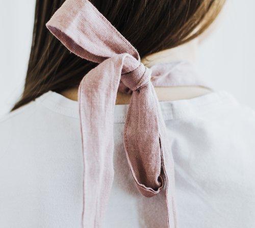 Dámská zástěra MagicLinen Bib Apron – růžová